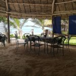 One of several dining areas available, this one beachfront facing for barbecues