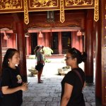 Our travel mate explaining the significance of the Temple of Literature