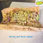 Slip's deli special Bacon and Blue Cheese Sub