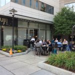 Outdoor patio of Fuji at Kendall