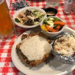 Chicken Fried Steak and Blood and Honey. Perfect!