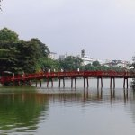 Red Bridge at Hoan Kiem Lake
