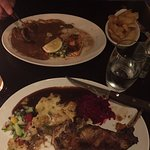 Farthest away, my husband had the surf and turf. I had the lamb chop, it was EXCELLENT.