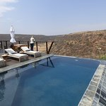 Infinity pool on the lodge deck