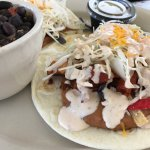 Chicken tacos with black beans