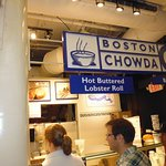 Boston Chowda in Quincy Market, Boston, Ma