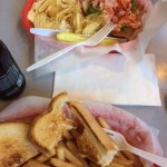 Lobster Roll hubby said ok, Grilled Cheese tasteless & Fries were best part of the entire experi