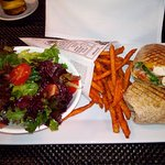 lovely wrap and sweet potato fries