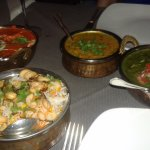 paneer, rice and dal
