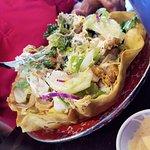 salad with bbq chicken
