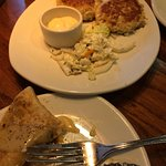 Tasty appetizers. Pictured are crab cakes, and chicken quesadilla.