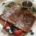 Cinnamon French Toast with apple compote - yum!