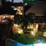 3rd floor balcony at night