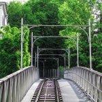 Trecho do percurso do funicular Polybahn