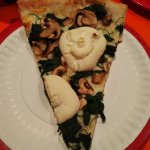 White pie with mushrooms