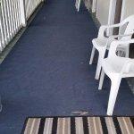 carpets were ripped/torn tripping hazard
