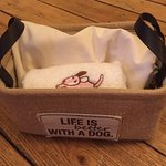 Doggie basket, a nice touch