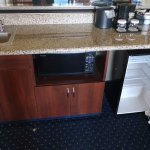 Wet bar, microwave, fridge, Room 301