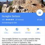 Nearby Nuraghe worth visiting