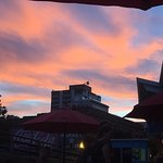 The sunset from an event on the patio.