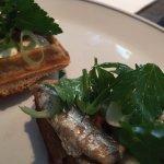 sardines , waffles