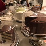 Incredible selection of layer cakes by the slice, cupcakes and pie. Gluten-free cupcakes availab
