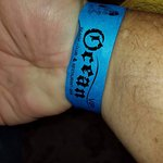 Wristband for all-inclusive access.
