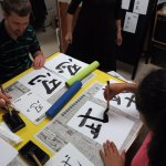 Calligraphy Session With Natsuko