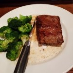 Flatiron steak with broccoli