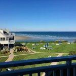 Deck view near low tide.