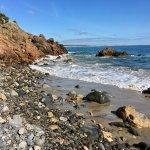 Rocky shoreline along Marginal Way.