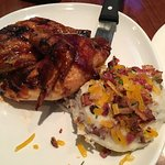 BBQ chicken with loaded mashed potatoes