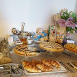 Breakfast served at Case Brizi location, a short walk from our apartment