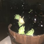 Basket of Eggplants Greet the diners at the entrance