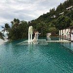Wedding over the pool