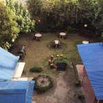 Garden cafe from room .small nice garden.