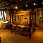 A Principal First Floor room, set out to tell the weavers story of Lavenham Blue clothmaking