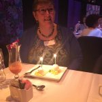 My surprise birthday dessert and our lovely champagne to go with it to celebrate the big 60