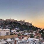 Utsikt över Akropolis från takterassen
