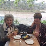 Sharing a birthday lunch by the river
