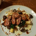 Pan fried lamb rump withe savoy cabbage, haggis, fondant potatoes and hazel nuts! - Mind blowing