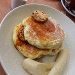 ricotta hotcakes with bananas