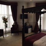 Beautiful four poster sea view room