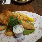 Nicely presented cod and chips