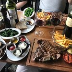 A great spread, and that steak...fabulous!