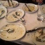 Non abbiamo fatto in tempo a fotografare i piatti pieni...
