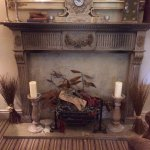 The fireplace display in the 'snug' public area