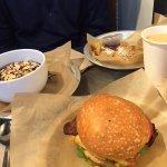 Flour Bakery & Cafe: Oatmeal, French Toast, & Egg Sandwich = yummy