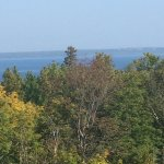 The view from the top, looking at the U.P.