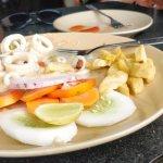 Butter garlic calamari